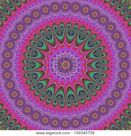 Abstract oriental star mandala design background