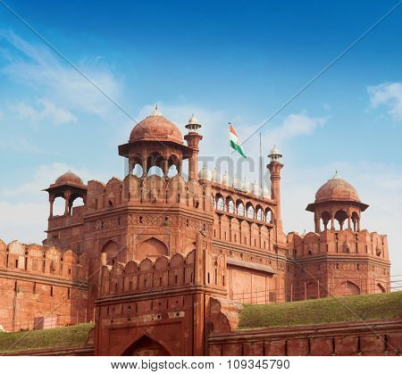 Lal Qila - Red Fort in Delhi, India