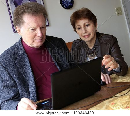 Working On Computer Together