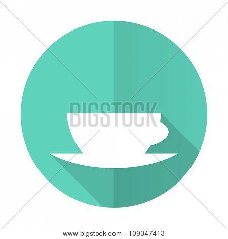 espresso blue web flat design circle icon on white background