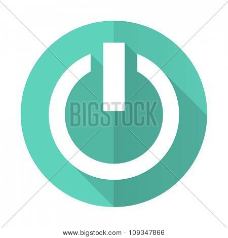 power blue web flat design circle icon on white background