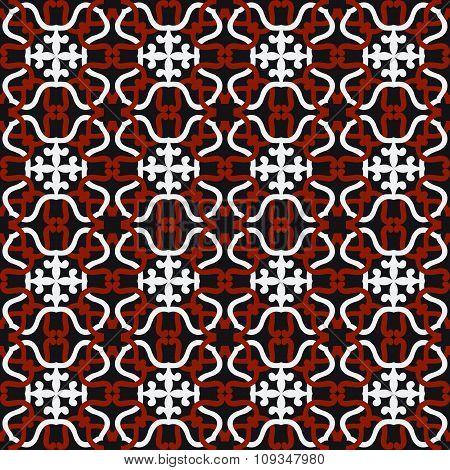 Seamless background image of vintage elegant geometry rope knot shape pattern.