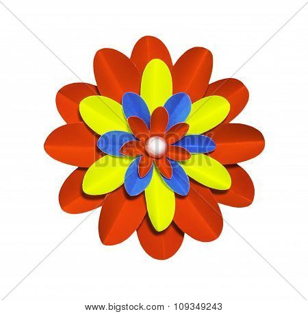 Paper Flower Isolated