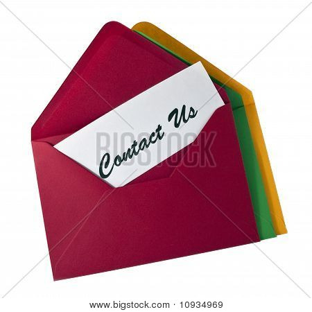 Contact Us- Card In The Envelope