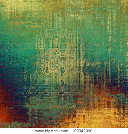 Vintage antique textured background. With different color patterns: yellow (beige); green; blue; red (orange)