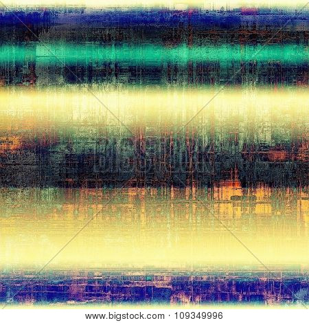 Old retro vintage texture. With different color patterns: yellow (beige); green; black; blue