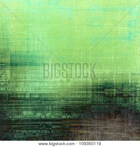 Grunge old texture as abstract background. With different color patterns: brown; green; gray; cyan
