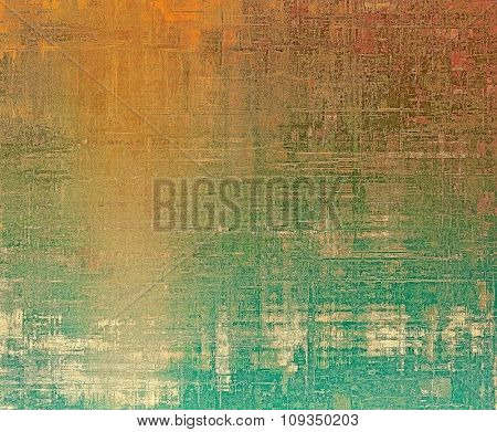 Beautiful vintage background. With different color patterns: yellow (beige); brown; green; red (orange)