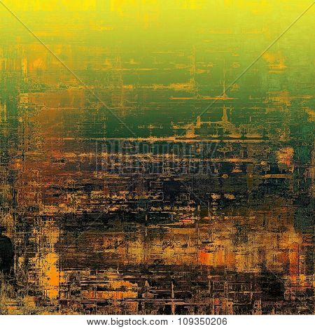 Retro background with grunge texture. With different color patterns: yellow (beige); brown; green; black