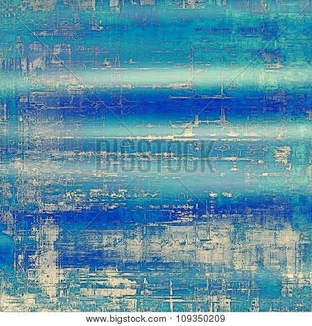 Old abstract grunge background for creative designed textures. With different color patterns: blue; cyan; white