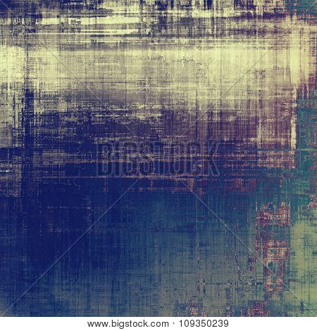 Vintage antique textured background. With different color patterns: yellow (beige); green; blue; purple (violet)