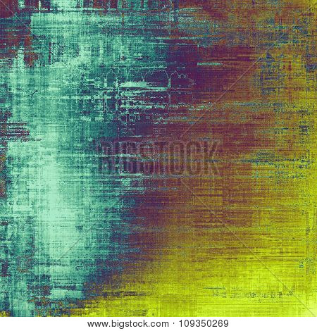 Grunge old-fashioned background with space for text or image. With different color patterns: yellow (beige); blue; purple (violet); cyan