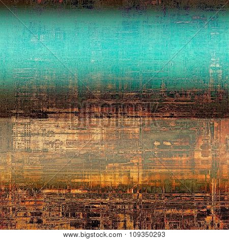 Retro background with grunge texture. With different color patterns: yellow (beige); brown; black; blue