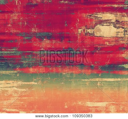 Beautiful vintage background. With different color patterns: brown; green; red (orange); pink