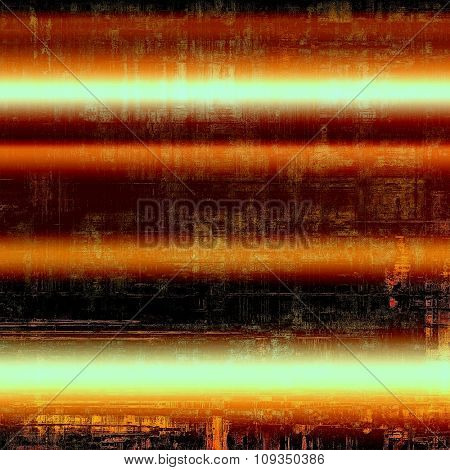 Designed grunge texture or background. With different color patterns: brown; black; red (orange); cyan