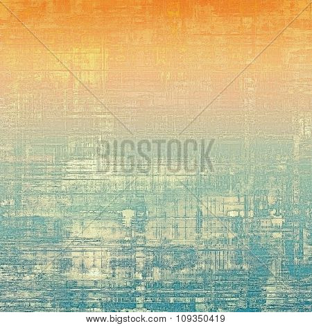 Grunge colorful background or old texture for creative design work. With different color patterns: yellow (beige); blue; red (orange); cyan