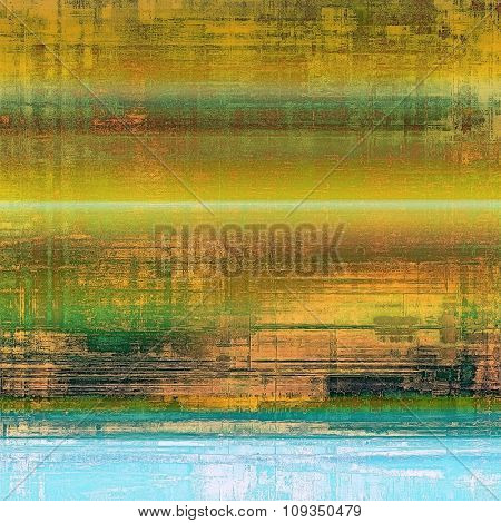 Grunge colorful background or old texture for creative design work. With different color patterns: yellow (beige); brown; green; blue