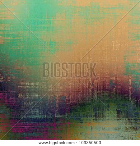 Designed grunge texture or retro background. With different color patterns: yellow (beige); brown; green; purple (violet)