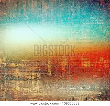 Designed grunge texture or retro background. With different color patterns: yellow (beige); brown; blue; red (orange)