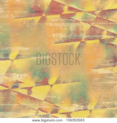 Designed grunge texture or background. With different color patterns: yellow (beige); brown; green; gray