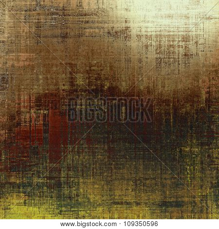 Old abstract grunge background for creative designed textures. With different color patterns: yellow (beige); brown; black; gray