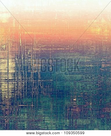 Grunge old-fashioned background with space for text or image. With different color patterns: yellow (beige); green; purple (violet); red (orange)
