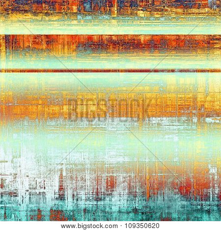 Antique vintage texture or background. With different color patterns: yellow (beige); blue; red (orange); white