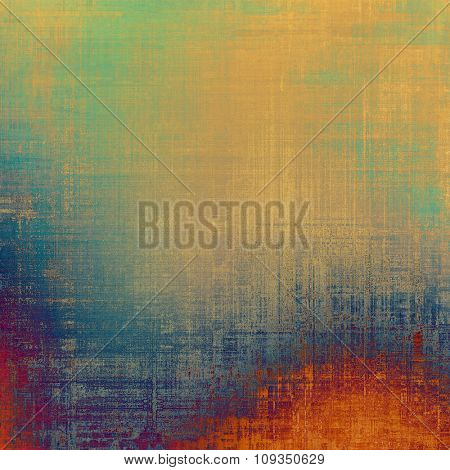 Old, grunge background texture. With different color patterns: yellow (beige); green; blue; red (orange)
