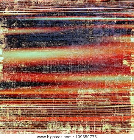 Grunge old-fashioned background with space for text or image. With different color patterns: yellow (beige); brown; black; red (orange)