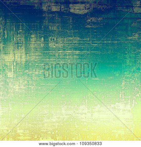 Old abstract grunge background for creative designed textures. With different color patterns: yellow (beige); green; blue; cyan