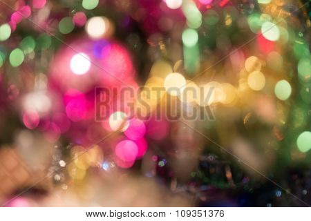 Colorful blurred image of Christmas decoration