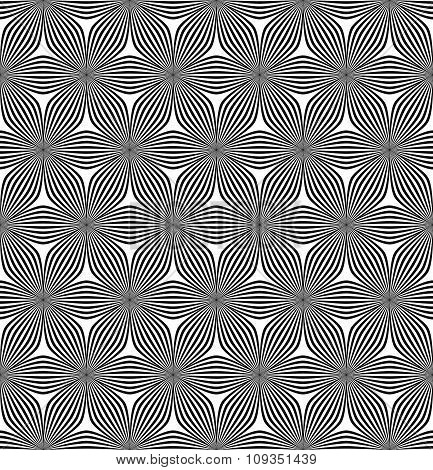 Seamless hexagonal curved line pattern