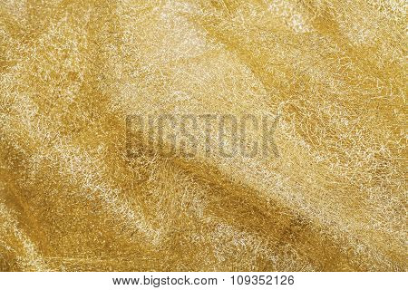Golden Fabric Background Texture