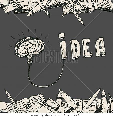 Brain lamp poster.