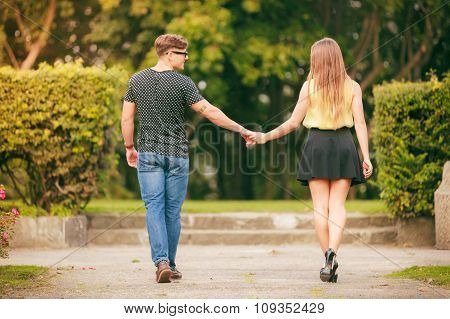 Walking Couple Back View