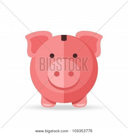 Piggy bank. Creative vector illustration isolated on white background