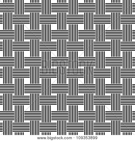 Seamless black and white weave pattern