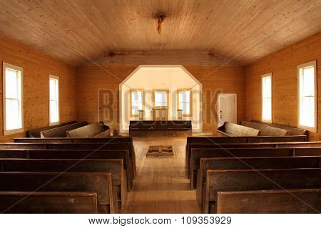 Historic Baptist Church Interior