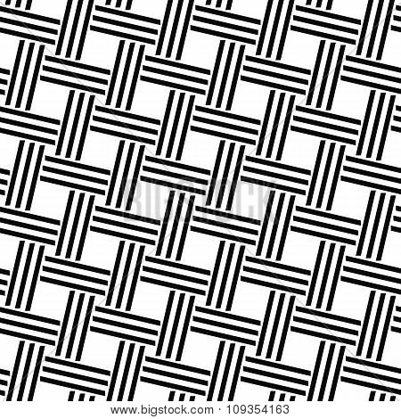 Seamless monochrome woven line pattern