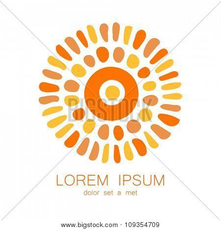 Tribal design - template logo. Ethnic corporate identity.