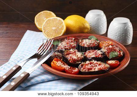 Baked vegetables for breakfast
