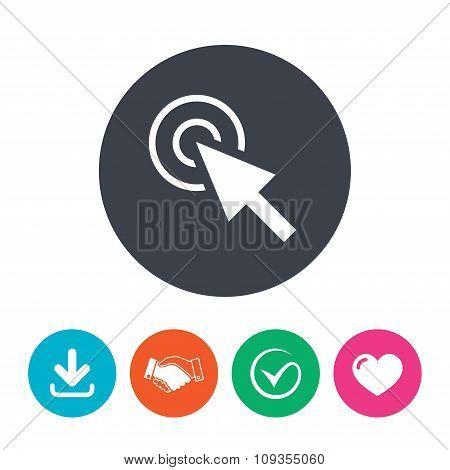 Mouse cursor sign icon. Pointer symbol.
