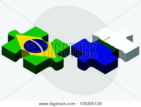 Brazil And Navassa Island Flags
