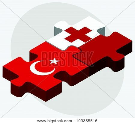 Turkey And Tonga Flags