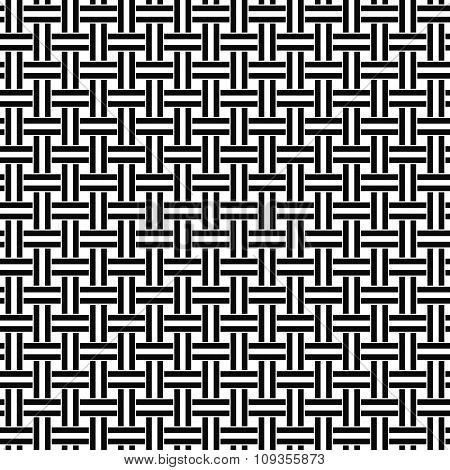 Seamless black white weave pattern