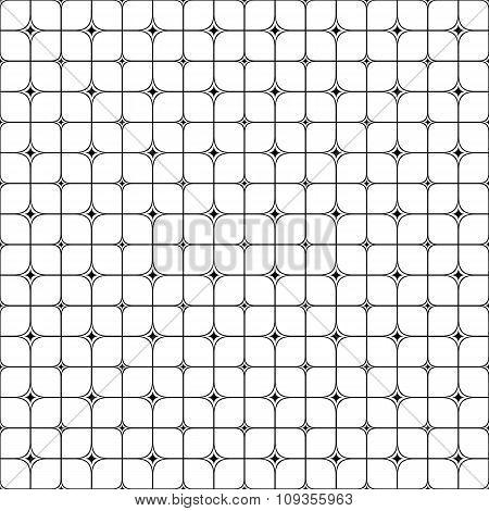 Seamless monochrome star shape grid pattern