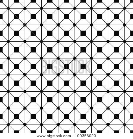 Seamless monochrome grid pattern