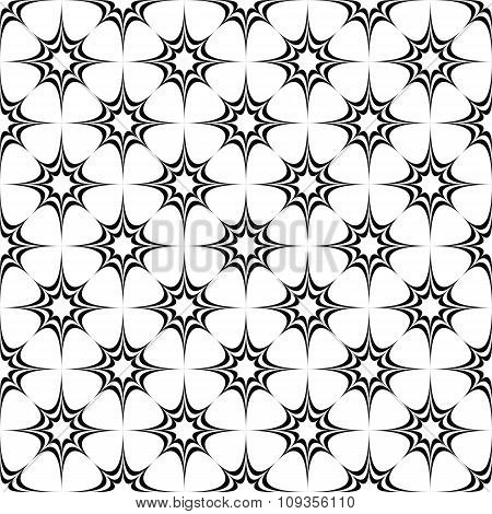 Seamless monochrome pattern from stars