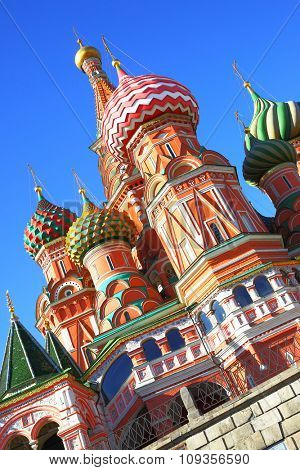 St Basil cathedral in Moscow, Russia