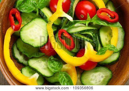 Vegetable salad background